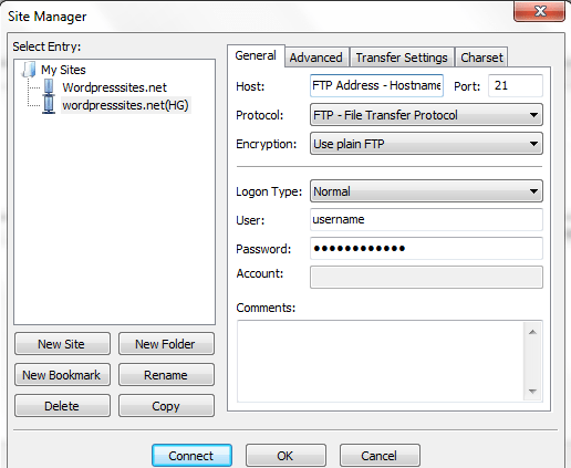 Setting up an FTP Client
