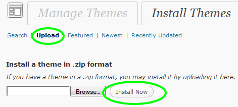 Upload & Install a Theme for WordPress