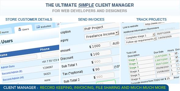 Client-manager-php-script