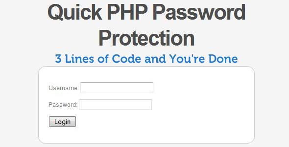 Password Protection-Login System-Php Script