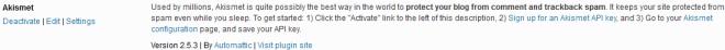 WordPress Comment Spam - Akismet