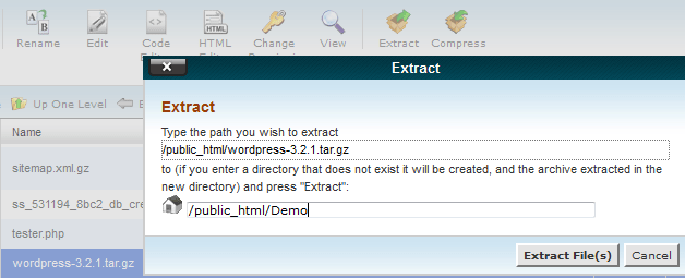 Extract to Demo Folder