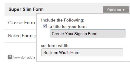 Form Design Options