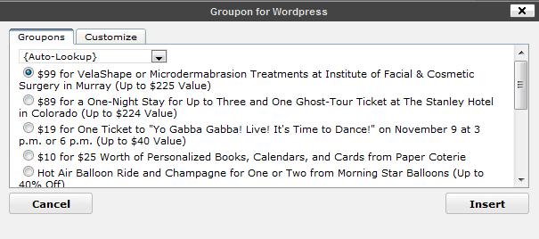 Groupon for WordPress