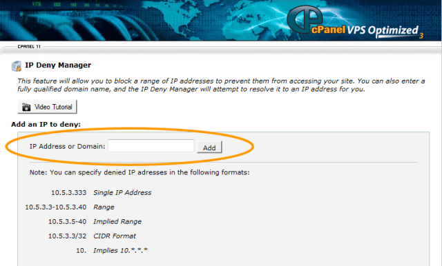 Blocked IP Addresses