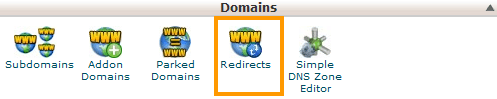 Domains - Redirects