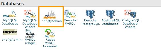 cPanel-Databases-phpMyAdmin