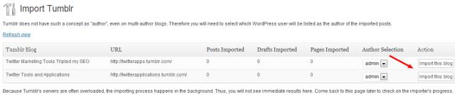 Import Tumblr Blog Posts