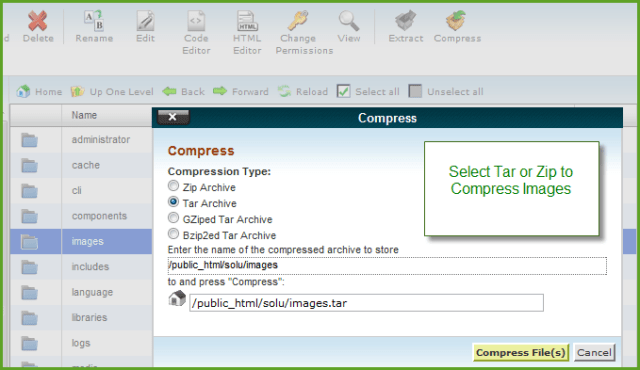 Compress Image Files