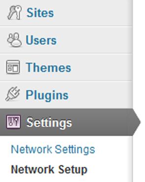 New WordPress Admin for Multi Site