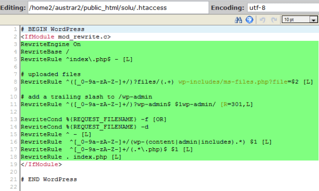 Edit .htaccess rewrite rules
