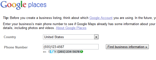 Country and Phone Number