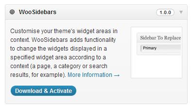Woo Sidebars Included in WooDojo