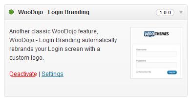 WooDojo Login Branding
