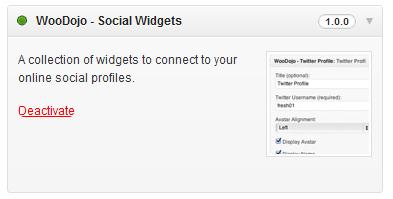 WooDojo Social Widgets