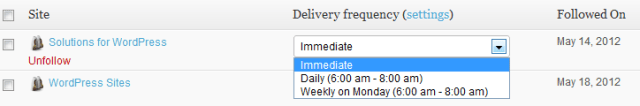 Delivery Frequency