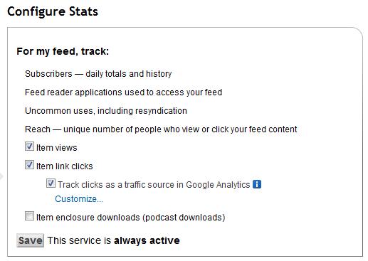 Analyze Configure Stats