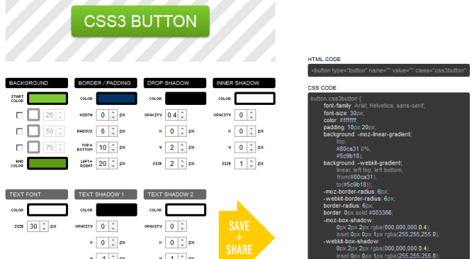 Online CSS3 Button Generator 2