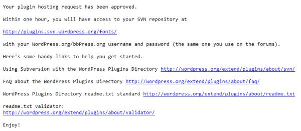 plugin approval wordpress
