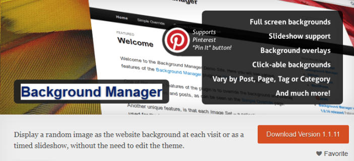 Background Manager
