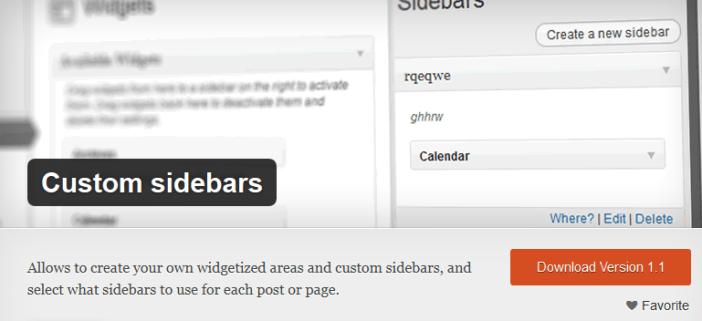 Custom Sidebars