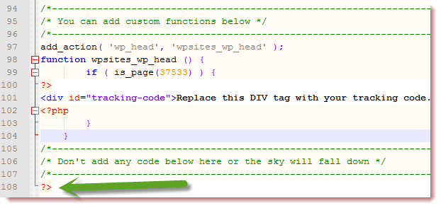 php functions file