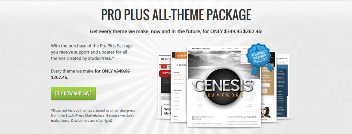 StudioPress pro plus package all themes package