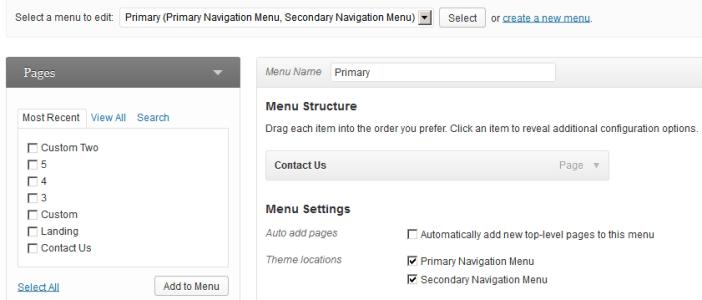 wordpress 3.6 menu ui
