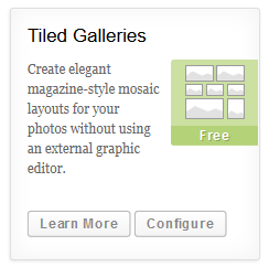 Configure Tiled Galleries
