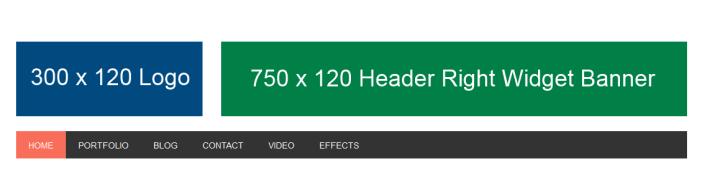result after adding logo and image banner