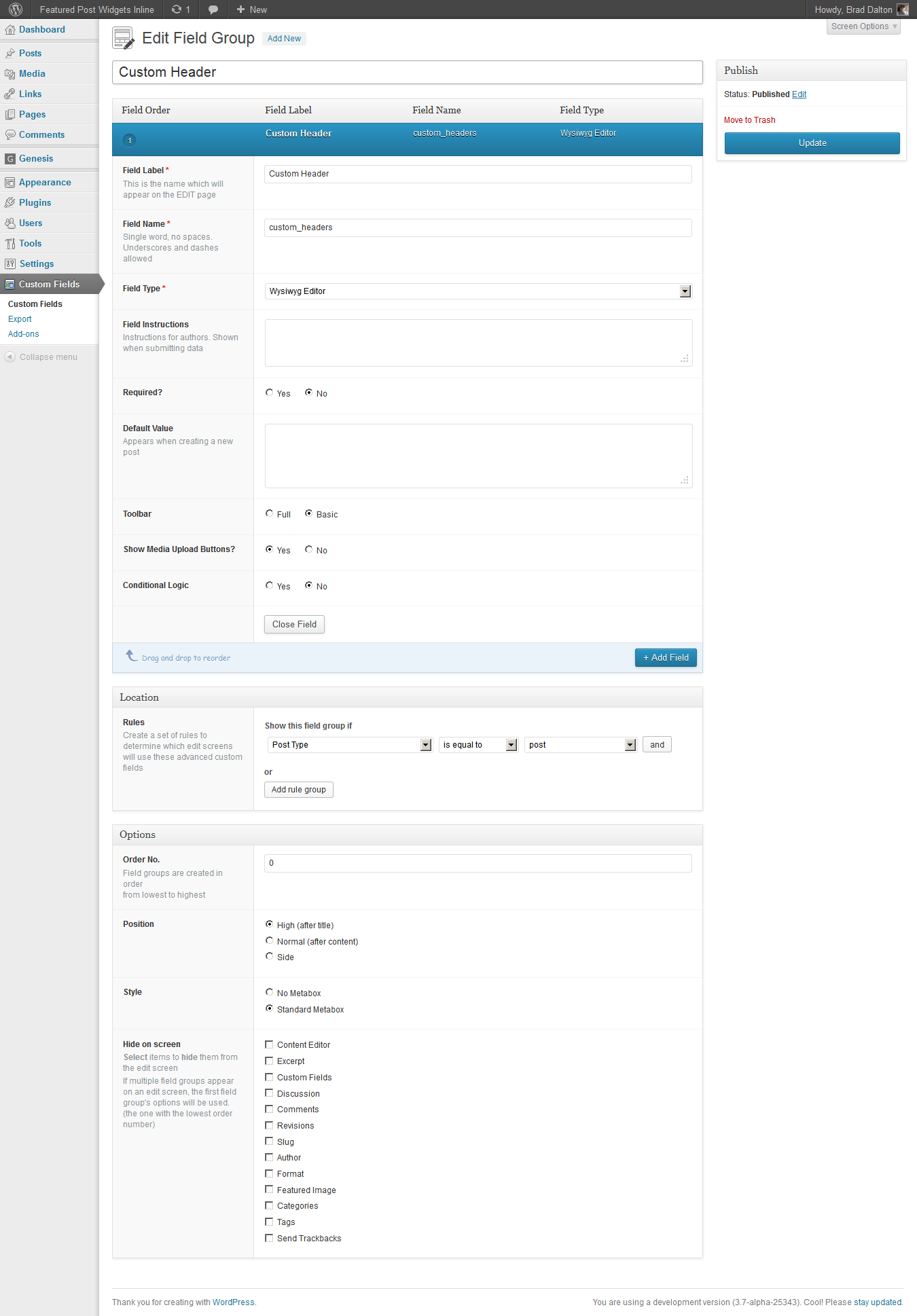Custom Header Images With A Default