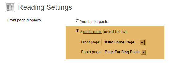 page for posts