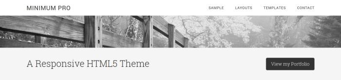 Minimum Pro Theme tagline