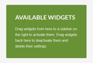 text widget after styling