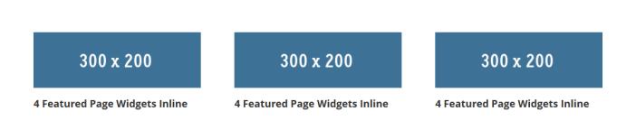 3 widgets inline