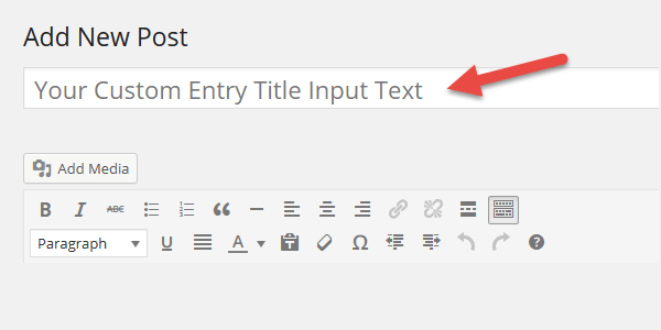 custom enter title here text