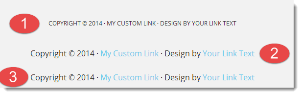 add links to footer
