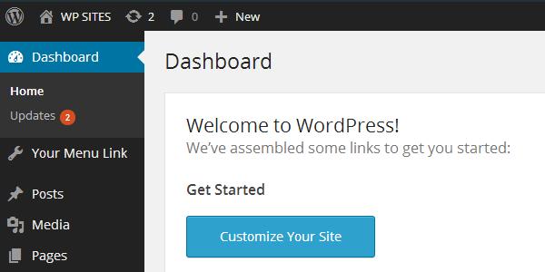 add dashboard link
