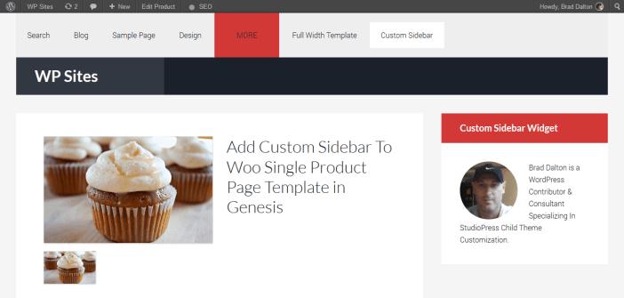 custom sidebar
