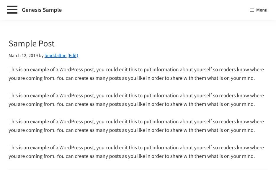 side push menu ( Inactive )