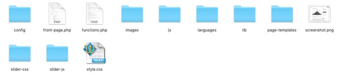 Child Theme Folder Structure