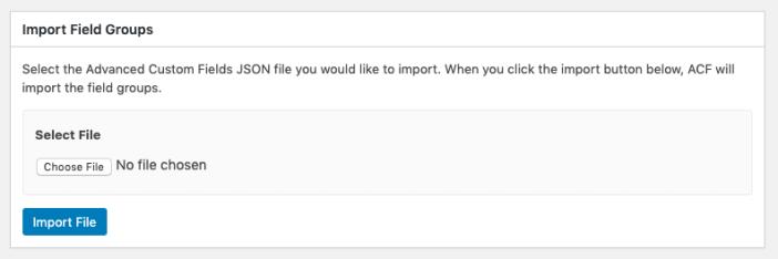 ACF Import File