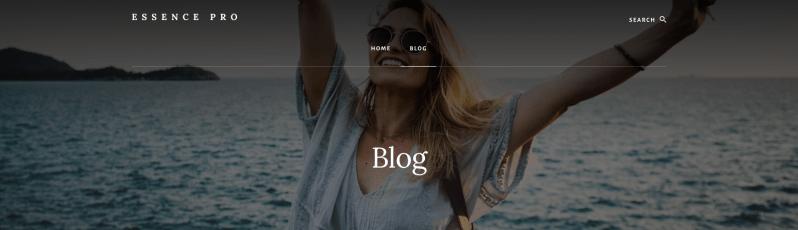 Blog Page Title Essence Pro Theme