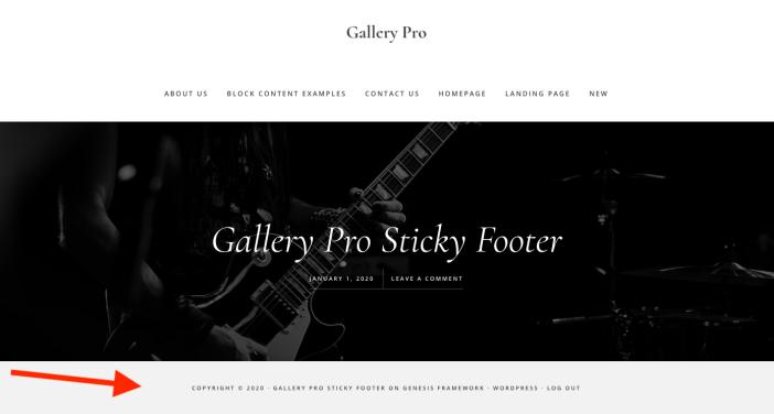 Gallery Pro Sticky Footer