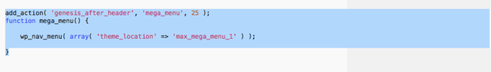 Add PHP function to child themes functions file