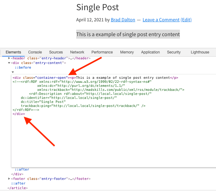 Inspect Genesis HTML