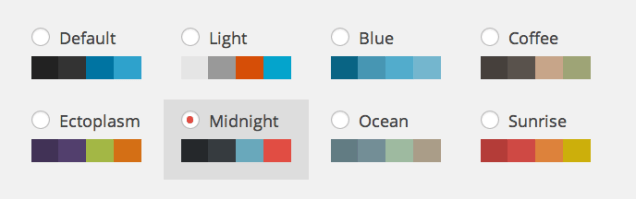 WordPress Admin Color Schemes - Default 8