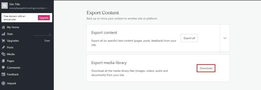 Export Media Library