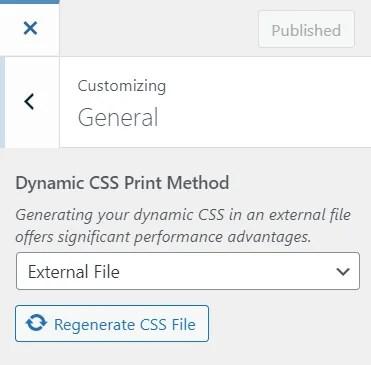Print Dynamic CSS in an External File