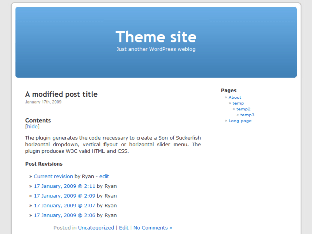 WordPress Wiki post view